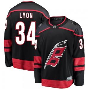 Alex Lyon Carolina Hurricanes Youth Fanatics Branded Black Breakaway Alternate Jersey