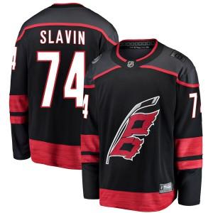 Jaccob Slavin Carolina Hurricanes Youth Fanatics Branded Black Breakaway Alternate Jersey