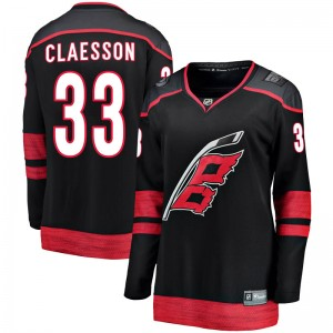 Fredrik Claesson Carolina Hurricanes Women's Fanatics Branded Black Breakaway Alternate Jersey