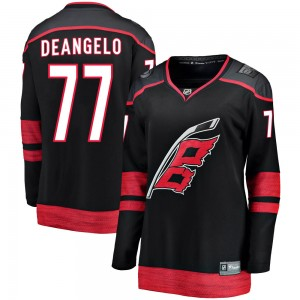 Tony DeAngelo Carolina Hurricanes Women's Fanatics Branded Black Breakaway Alternate Jersey