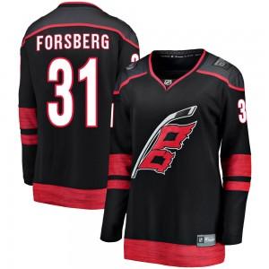 Anton Forsberg Carolina Hurricanes Women's Fanatics Branded Black ized Breakaway Alternate Jersey