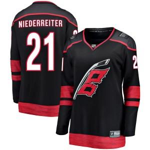 Nino Niederreiter Carolina Hurricanes Women's Fanatics Branded Black Breakaway Alternate Jersey