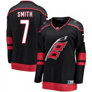Brendan Smith Carolina Hurricanes Women's Fanatics Branded Black Breakaway Alternate Jersey