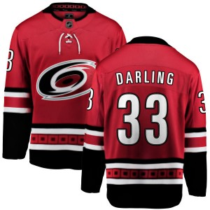 Scott Darling Carolina Hurricanes Men's Fanatics Branded Red Home Breakaway Jersey