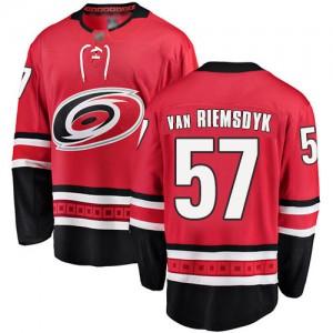 Trevor Van Riemsdyk Carolina Hurricanes Men's Fanatics Branded Red Home Breakaway Jersey