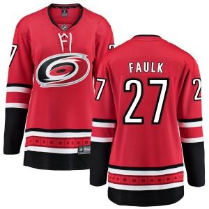Justin Faulk Carolina Hurricanes Women's Fanatics Branded Red Home Breakaway Jersey