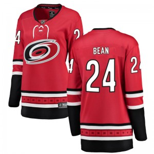 Jake Bean Carolina Hurricanes Women's Fanatics Branded Red Breakaway Home Jersey