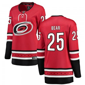 Ethan Bear Carolina Hurricanes Women's Fanatics Branded Red Breakaway Home Jersey
