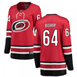 Clark Bishop Carolina Hurricanes Women's Fanatics Branded Red ized Breakaway Home Jersey