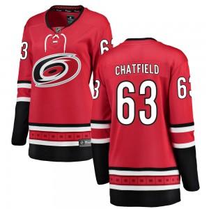 Jalen Chatfield Carolina Hurricanes Women's Fanatics Branded Red Breakaway Home Jersey