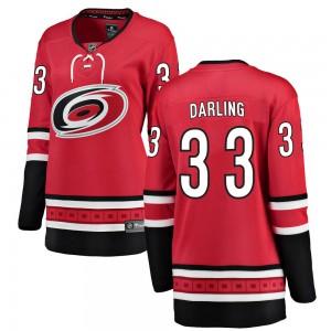 Scott Darling Carolina Hurricanes Women's Fanatics Branded Red Breakaway Home Jersey