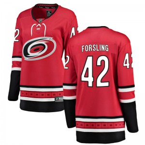 Gustav Forsling Carolina Hurricanes Women's Fanatics Branded Red Breakaway Home Jersey