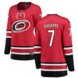 Phil Di Giuseppe Carolina Hurricanes Women's Fanatics Branded Red Breakaway Home Jersey