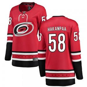 Jani Hakanpaa Carolina Hurricanes Women's Fanatics Branded Red Breakaway Home Jersey