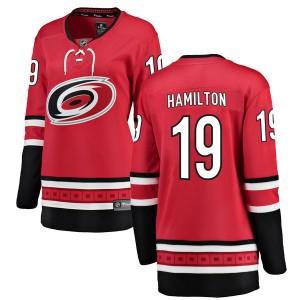 Dougie Hamilton Carolina Hurricanes Women's Fanatics Branded Red Breakaway Home Jersey
