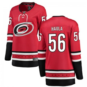 Erik Haula Carolina Hurricanes Women's Fanatics Branded Red Breakaway Home Jersey