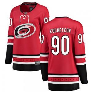 Pyotr Kochetkov Carolina Hurricanes Women's Fanatics Branded Red Breakaway Home Jersey