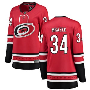 Petr Mrazek Carolina Hurricanes Women's Fanatics Branded Red Breakaway Home Jersey