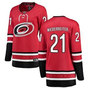 Nino Niederreiter Carolina Hurricanes Women's Fanatics Branded Red Breakaway Home Jersey