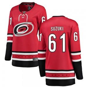 Ryan Suzuki Carolina Hurricanes Women's Fanatics Branded Red Breakaway Home Jersey
