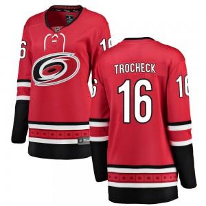 Vincent Trocheck Carolina Hurricanes Women's Fanatics Branded Red ized Breakaway Home Jersey