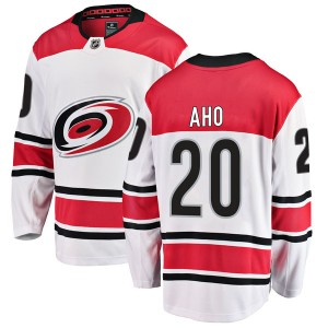 Sebastian Aho Carolina Hurricanes Men's Fanatics Branded White Breakaway Away Jersey