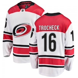 Vincent Trocheck Carolina Hurricanes Men's Fanatics Branded White ized Breakaway Away Jersey