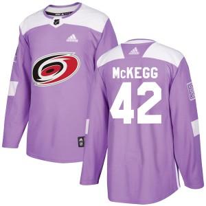 Greg McKegg Carolina Hurricanes Men's Adidas Authentic Purple Fights Cancer Practice Jersey
