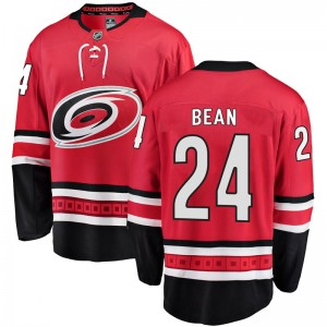 Jake Bean Carolina Hurricanes Youth Fanatics Branded Red Breakaway Home Jersey
