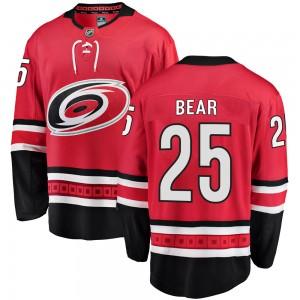 Ethan Bear Carolina Hurricanes Youth Fanatics Branded Red Breakaway Home Jersey
