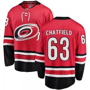Jalen Chatfield Carolina Hurricanes Youth Fanatics Branded Red Breakaway Home Jersey