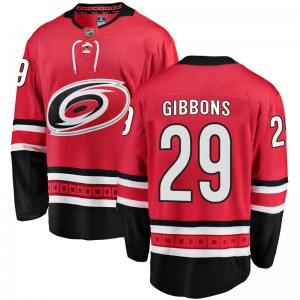 Brian Gibbons Carolina Hurricanes Youth Fanatics Branded Red Breakaway Home Jersey