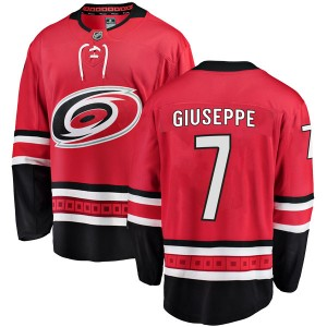 Phil Di Giuseppe Carolina Hurricanes Youth Fanatics Branded Red Breakaway Home Jersey