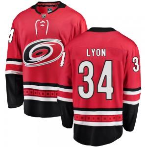 Alex Lyon Carolina Hurricanes Youth Fanatics Branded Red Breakaway Home Jersey