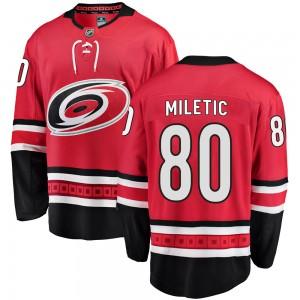 Sam Miletic Carolina Hurricanes Youth Fanatics Branded Red Breakaway Home Jersey