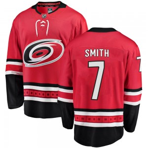 Brendan Smith Carolina Hurricanes Youth Fanatics Branded Red Breakaway Home Jersey