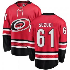 Ryan Suzuki Carolina Hurricanes Youth Fanatics Branded Red Breakaway Home Jersey