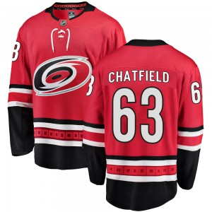Jalen Chatfield Carolina Hurricanes Men's Fanatics Branded Red Breakaway Home Jersey