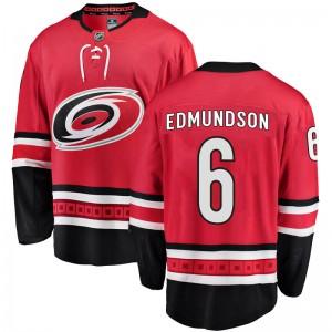 Joel Edmundson Carolina Hurricanes Men's Fanatics Branded Red Breakaway Home Jersey