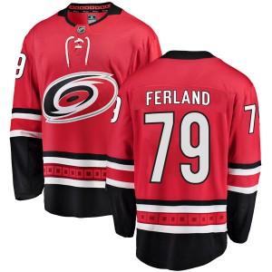 Micheal Ferland Carolina Hurricanes Men's Fanatics Branded Red Breakaway Home Jersey