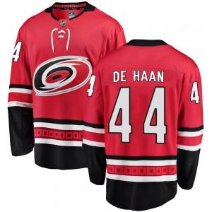 Calvin de Haan Carolina Hurricanes Men's Fanatics Branded Red Breakaway Home Jersey