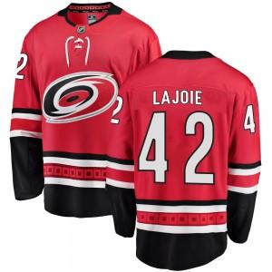 Maxime Lajoie Carolina Hurricanes Men's Fanatics Branded Red Breakaway Home Jersey