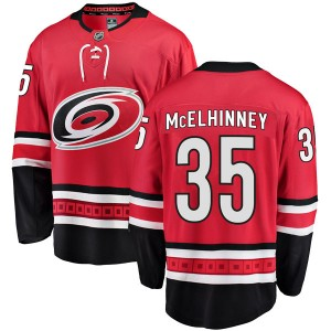 Curtis McElhinney Carolina Hurricanes Men's Fanatics Branded Red Breakaway Home Jersey