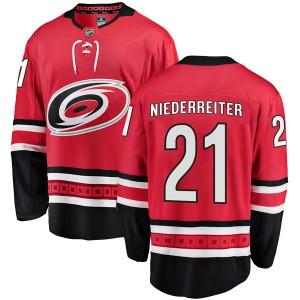 Nino Niederreiter Carolina Hurricanes Men's Fanatics Branded Red Breakaway Home Jersey