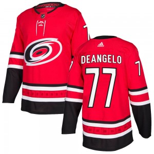Tony DeAngelo Carolina Hurricanes Youth Adidas Authentic Red Home Jersey
