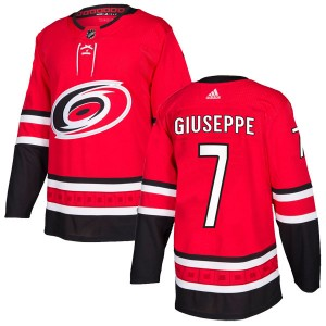 Phil Di Giuseppe Carolina Hurricanes Youth Adidas Authentic Red Home Jersey