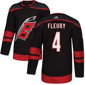 Haydn Fleury Carolina Hurricanes Men's Adidas Authentic Black Alternate Jersey