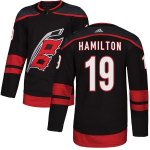 Dougie Hamilton Carolina Hurricanes Men's Adidas Authentic Black Alternate Jersey