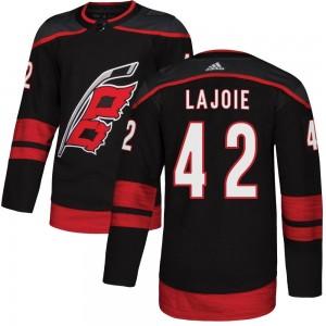 Maxime Lajoie Carolina Hurricanes Men's Adidas Authentic Black Alternate Jersey