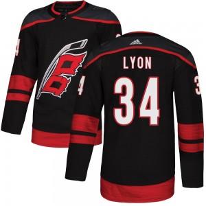 Alex Lyon Carolina Hurricanes Men's Adidas Authentic Black Alternate Jersey